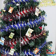 """10pcs / set 200cm / 78.4 """"cores misturadas e aleatórios decorações de natal pena macio tira boa natal festa de casamento presente"""