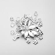 Bergkristal / Kristallen / Licht Metaal Vrouwen Helm Bruiloft / Speciale gelegenheden Bloemen Bruiloft / Speciale gelegenheden 1 Stuk