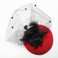 Femme / Jeune bouquetière Plume / Tulle / Tissu Casque-Mariage / Occasion spéciale Voile de cage à oiseaux 1 Pièce