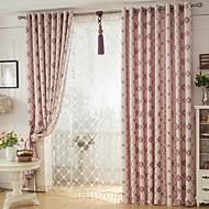 dois painéis europeu elegante de alta qualidade cortinas de linho chenille jacquard
