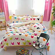 Mingjie® Cartoon Mich Yellow Queen and Twin Size Sanding Bedding Sets 4pcs for Boys and Girls Bed Linen China