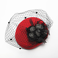 Women's / Flower Girl's Tulle / Chiffon / Fabric Headpiece - Wedding / Special Occasion Birdcage Veils 1 Piece