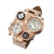 Watches Men Sports Calendar Watch Dual Movement Compass Wrist Watch Relogio Masculino Quartz Watch (Assorted Colors) Cool Watch Unique Watch