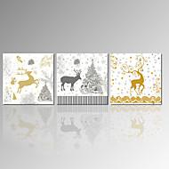 Krajina / Vlastenec / Moderní / Romantické / Pop Art Na plátně Tři panely Připraveno k Pověste , Obdélníkový