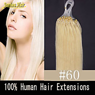 "8A Natural Micro Ring Hair Extension 18""20""22""24""26""28"" 1G/S 100G/Lot Micro Loop Hair Remy Hair Human Hair Extension"