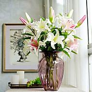 משי / פלסטיק חבצלות פרחים מלאכותיים