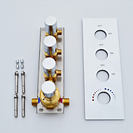 Large Water Outlet Flow Wall Mounted Chrome Bathroom Shower Valve, 3 Water Functions Work Together Or Separately