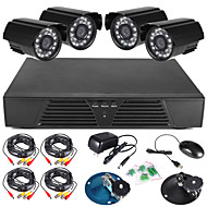 szsinocam® 8 csatornás teljes 960h DVR és 4db kültéri 600tvline nappali / éjszakai kamera