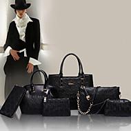 Women PU Barrel Shoulder Bag / Tote - White / Blue / Gold / Black