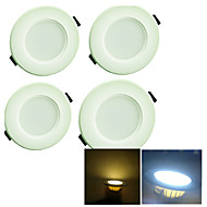 3W LED Recessed Lights 8 SMD 5730 200 lm Warm White / Cool White Decorative AC 220-240 V 4 pcs