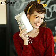 HOWRU ® Women 's PU Long Wallet/Card/Clutch bag-Black/Red/Silver