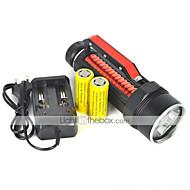 LED-Zaklampen LED 2 Mode 6000 Lumens Waterdicht / Oplaadbaar / Schokbestendig / Slagring / Tactisch / Noodgeval Cree XM-L2 18650