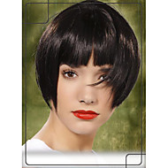 "Bob Stylish Human Virgin Remy Hair 1""Monofilament Top Capless Neat Bang Straight Wigs"