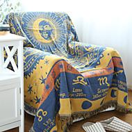 Yellow Cotton Athensr Thickening Line Decorative Carpet Sofa Towel Blanket