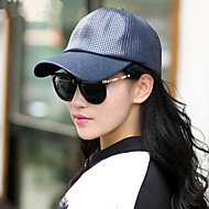 Women Pure Color  Hollow Out Baseball Cap