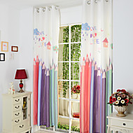 Barroco Two Panels Novelty  Kids Room Poly  Cotton Blend Panel Curtains Drapes