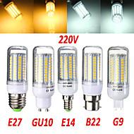 E14 / G9 / GU10 / E26/E27 / B22 18 W 102x2835SMD 1650 LM Warm White / Cool White LED Corn Bulbs AC 220-240 V