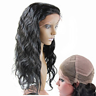 """10""""-30"""" Brazilian Human Hair Full Lace Wigs Body Wave Natural Color 130% Density Swiss Lace Wigs"""