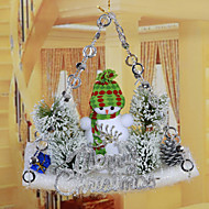 "22*34CM/8.7*13.3"" Christmas Snowman Hangings Christmas Tree Hotel Home Decoration Window Santa Claus"