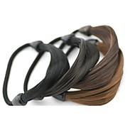 élastiques Accessoires pour cheveux Poil Synthétique Noir Marron Blond Chocolat Perruques Accessoires Pour femme
