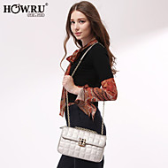 HOWRU ® Women 's PU Tote Bag/Single Shoulder Bag/Crossbody Bags-Black/Silver