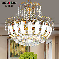 Modern LED Crystal Pendant Lights 45cm With Glass Leaves And Cristal Balls For Dining Room Lighting (952-45)