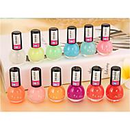 12pcs  Fashion Jelly Glow Nail Polish