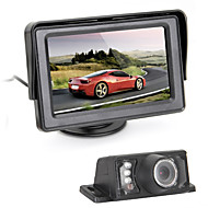 "4.3"" TFT Car Rear View Monitor IR Reverse Backup 7 LED Night Version Camera"