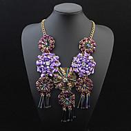 Women's European Style Fashion Sunflowers Tassel Necklace