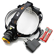 Genwiss® Headlamps / Cap Lights / LED Light Bulbs LED 3000 lumens Lumens 3 Mode Cree XM-L T6 18650 / CR2 / OtherAdjustable Focus /