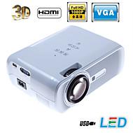 projecteur de cinéma maison 3000lumens LED 3D AV / USB / VGA / sd