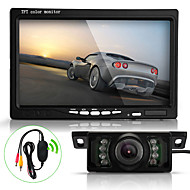 """Mouse over image to zoomDetails about 7 TFT LCD Car Rearview Reverse Monitor+Wireless Transmitter+7 LED IR Camera Kit"