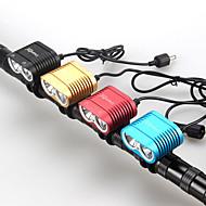 Eclairage de Vélo / bicyclette ( Etanche / Rechargeable / Résistant aux impacts / Tête crénelée / Tactique / Urgence ) LED 4.0 Mode 2400