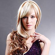 שיער תחרה מלא 22inch פאות פאות בסגנון גלי 100% שיער אדם תחרה מלאה הודיות בתולת שיער לנשים