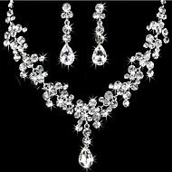 Bride Rhinestone Necklace Earrings Set (1Set)