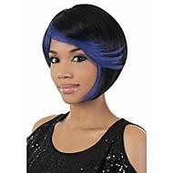 mode en facyory prijs blauw&natuurlijke kleur syntheic pruik