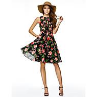 칵테일 파티 couture® TS 패턴 / 인쇄와 온라인 보석 무릎 길이 쉬폰 드레스