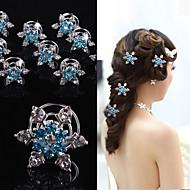 6pcs New Wedding Bridal Crystal Swirl Twist Hair Spin Pins Women Fashion Hair Jewelry Party Accessories