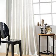 2 paneeli Maalaistyyliset / Modernit / Uusklassiset Tukeva Monivärinen Makuuhuone Pellava/polyesteriseos Paneeli Verhot Drapes