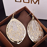 Top Quality European Style Hollow Oval Drop Earrings for Wedding Party