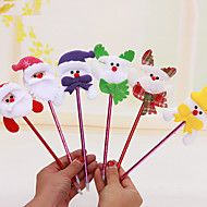 12PCS/SET Random Mixed Styles Christmas Santa Claus Snowman Reindeer Colorful Pen