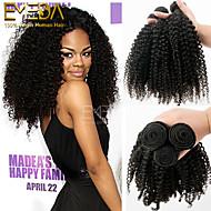 3kpl / paljon brasilian neitsyt hiukset afro perverssi kiharat ihmisen hiusten pidennykset luonnon musta 8 '' - 30 '' hiuksista kutoo