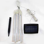 Set of 8 Solar Cosmos 8 Falling Rain Drop/icicle Snow Fall String LED Xmas Tree Cascading Light Decor shooting star