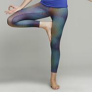 Yoga Pants 3/4 calças justas / Fundos / Calças / Meia-calça / LeggingsRespirável / Secagem Rápida / Materiais Leves / Antibacteriano /