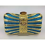 Γυναικείο Άλλος τύπος δέρματος Επίσημη Βραδινή τσάντα Ροζ / Μπλε / Χρυσό / Ασημί / Μαύρο