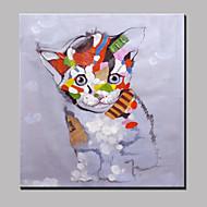מצויר ביד מופשט / בעלי חייםמודרני פנל אחד בד ציור שמן צבוע-Hang For קישוט הבית
