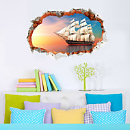 Landscape Wall Stickers 3D Wall Stickers Printed On Plastic 60x90cm