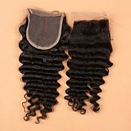 Slove Hair 7A Bleached Knots Lace Closure Deep Wave Closure Best Virgin Mongolian closures Free/2/3Part Closure