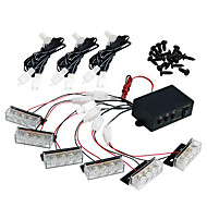 Set Car 18 LED White Strobe Emergency Flashing Grill Light