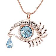 18 k Gold Plating, Austrian Crystal, Angel Tears Necklace Shape